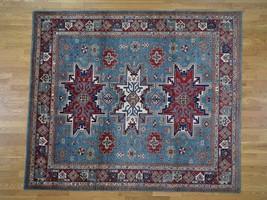 "8'2""x9'6"" Special Kazak Pure Wool HandKnotted Geometric Design Rug G42663 - $1,158.17"