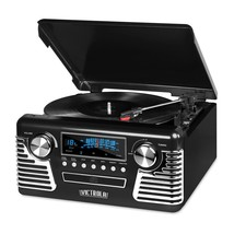 Innovative V50-200-BLK Bluetooth Stereo Record Player Turntable w/CD NEW - £77.49 GBP