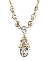 Givenchy Gold-Tone Crystal Y Necklace NWT - $37.23