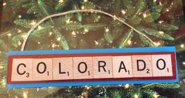 Colorado Rapids Soccer MLS Christmas Ornament Scrabble Tiles Rear View M... - $8.90