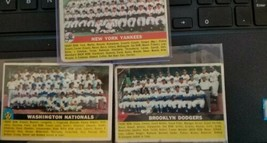 1956 Topps Yankees /Dodgers/Nationals Team Baseball Cards - $49.50