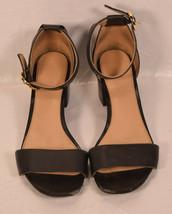 Michael Kors Womens Lena Black Leather Sandal 36.5 - $39.60