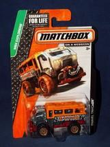 Matchbox 2014 Explorers Series Travel Tracker Truck Unpainted Grey & Orange - $2.50