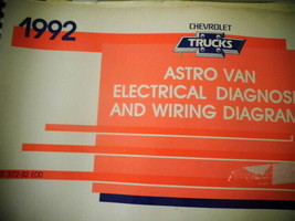 1992 Chevrolet Trucks Astro Van Electrical Diagnosis Wire Repair Diagrams Manual - $29.99