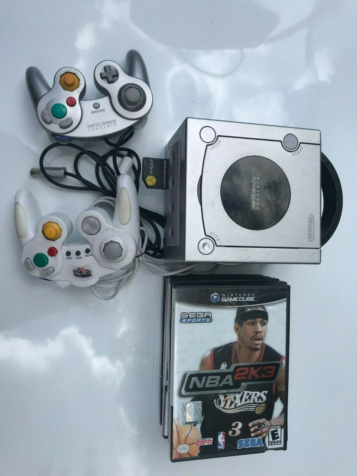 Nintendo Game cube Platinum Console System Lot Bundle w/ 6 Games TESTED