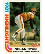 1982 Topps NOLAN RYAN  MINT 1981 Highlight Baseball card # 5 - $6.37