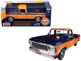 "1979 Ford F-150 Custom Pickup Truck \""Gulf\"" Dark Blue and Orange 1/24 Diecast M - $36.03"