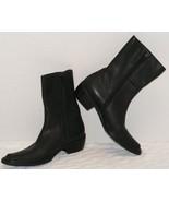 CORDANI WOMEN'S BLACK LEATHER SIDE ZIPPER ANKLE BOOTS EURO 37 Size US 6.... - $179.99