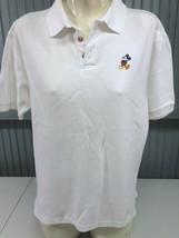 Walt Disney World Mickey Mouse White Polo Shirt Medium - $12.83