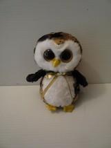 "Ty Beanie Boos Owliver the Owl 6"" Animal Toy Glitter Eyes MINT 2015 - $5.00"