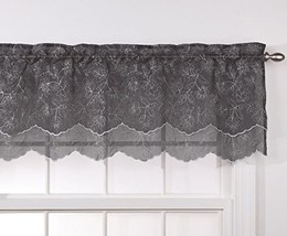 Stylemaster Renaissance Home Fashion Reese Embroidered Sheer Layered Sca... - $12.27