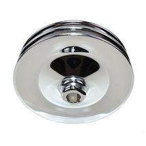 GM Saginaw Power Steering Pump Double-Groove Steel Pulley (Chrome) image 3