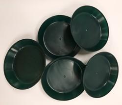 4 inch Case of 5 Austin Planter Saucers Black Heavy Duty Polypropylene - $10.90