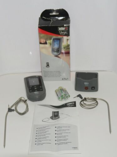 Weber Style 6741 Wireless Digital Grilling Thermometer Color Gray