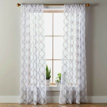 """Better Homes and Gardens Quatrefoil Embroidery Pole Top Panel 50"""" x 84""""  - $21.77"""
