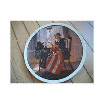 Edwin Knowles Collector Plate A Mother's Pride Rockwell - $9.14