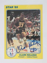 Clark Kellogg Signed Autographed 1985 Star 5x7 Basketball Card - Indiana... - $9.95