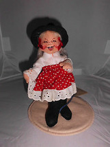 "RARE 1995 Annalee 7"" Nashville Dancer Girl Closed Eyes Base & Tag Great Cond! - $39.60"