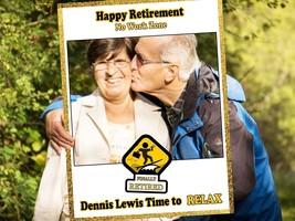 Happy Retirement Relax Selfie Frame Custom No Work Zone Photo Booth Prop... - $15.83+