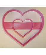 Double Heart Love Anniversary Valentine Cookie Cutter 3D Printed USA PR301 - $2.99