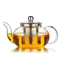 Hiware Good Glass Teapot Stainless Steel Infuser Lid Borosilicate Gla Te... - $20.33