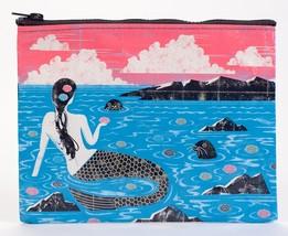 "Mermaid Standard Zipper Pouch New 7.25""h x 9.5""w Blue Q Fishy Luck Fashion - $8.99"