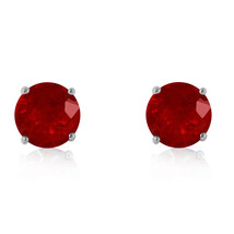 4.5 Carat 14K Solid White Gold Enthusiastic Best Ruby Earrings Cute Delicate - $352.84
