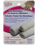 Pedifix Tubular-Foam Toe Bandages P337 - 3 Pack, Medium - $8.32