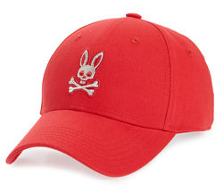 Psycho Bunny Men's Cotton Heritage Strapback Sports Baseball Cap Hat image 5