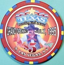 $5 Casino Chip, Texas, N. Las Vegas, NV. Grand Opening 1995. O41. - $6.50