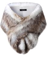 Caracilia Women's Faux Fur Shawl Wraps Stole Cloak Coat Sweater Cape for... - $57.73