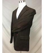Tommy Hilfiger Men's Houndstooth Windowpane Blazer Sport Coat Suede Elbo... - $78.79