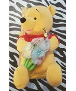 """Winnie The Pooh Plush Holding Flowers Posies with a Honey Bee 12"""" OA2C03 - $10.69"""