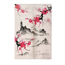 George Jimmy Traditional Chinese Style Doorway Japanese Noren Curtain Be... - $44.45