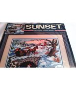 Sunset Cross Stitch Wintry Ride Horse Sleigh Ride Sunset No. 13108 Stamp... - $34.99