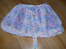 Girls Size 6 COOGI Bubble Hem Mini Skirt White Magenta Pink CG Print EUC - $12.00