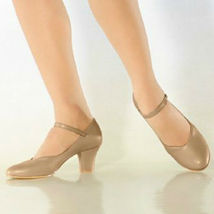 "So Danca CH52 Women's 4M (Fits 3.5) Tan 2"" Heel Character Shoe (with Def... - $9.99"
