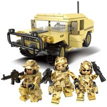 Hummer Military Army With 3 Soldier Fit Lego War Building Block Toy Chri... - $23.99