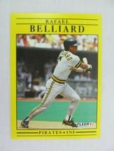 Rafael Belliard Pittsburgh Pirates 1991 Fleer Baseball Card 32 - $0.98