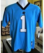 NFL Players Cam Newton Carolina Panthers # 1Jersey Youth Sz L14-16 Fan A... - $26.73