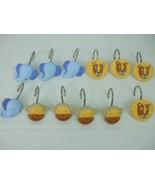 12 Resin Shower Curtain Hooks Hangers Kids Bathroom Monkey Elephant Lion - $9.85