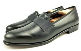 a24dafc3d0c Salvatore Ferragamo Men  39 s Shoes Rio Leather Slip On Loafers Black Size 9