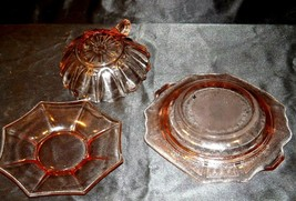 Pink Bowl, Saucer and Cup Depression Glass AA19-CD0035 Vintage image 2