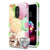 Ice Cream Scoops Green Pink TUFF Hybrid Phone Cover for LG K30/Premier Pro - $13.39