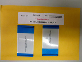 """Sanyo 46"""" FVM4612 T-Con A60EDGEC2LV0.2 Ribbon Cable Set to LCD Edge Boards - $14.95"""