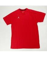 Nike Team Jordan Alpha 23 Dri-FIT Short Sleeve Shirt Men's Large CJ1132 Red - $35.64