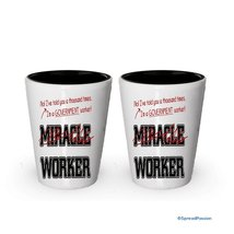 I'm a Government Worker shot glass- Not a Miracle Worker -Government Worker Gift - $17.59