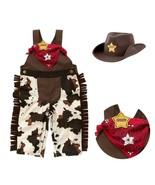 6-24M Baby Boy Sheriff Cowboy Overalls, Hat and Handkerchief 3-pc Costum... - $18.99