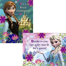 Disney's Frozen Invitation and Thank You (16 Pack) - Party Supplies - $9.84