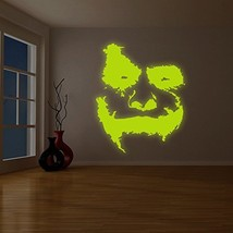 """( 78"""" x 94"""" ) Glowing Vinyl Wall Decal Scary Joker Face """"Why So Serious?"""" / Glow - $420.20"""